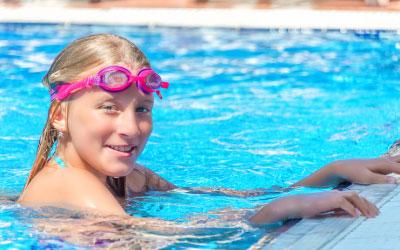 teen swimming