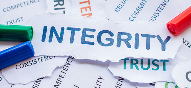Integrity and other values