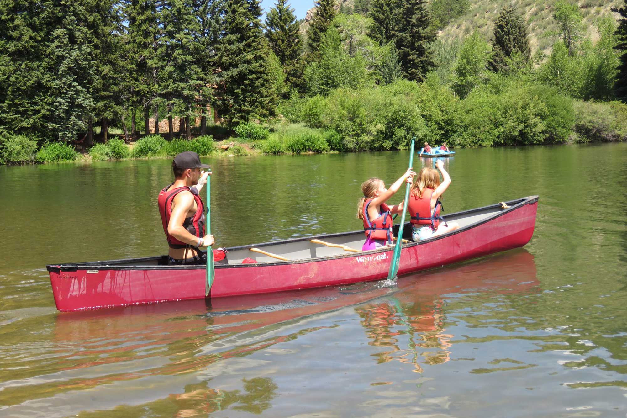 canoeing at camp santa maria