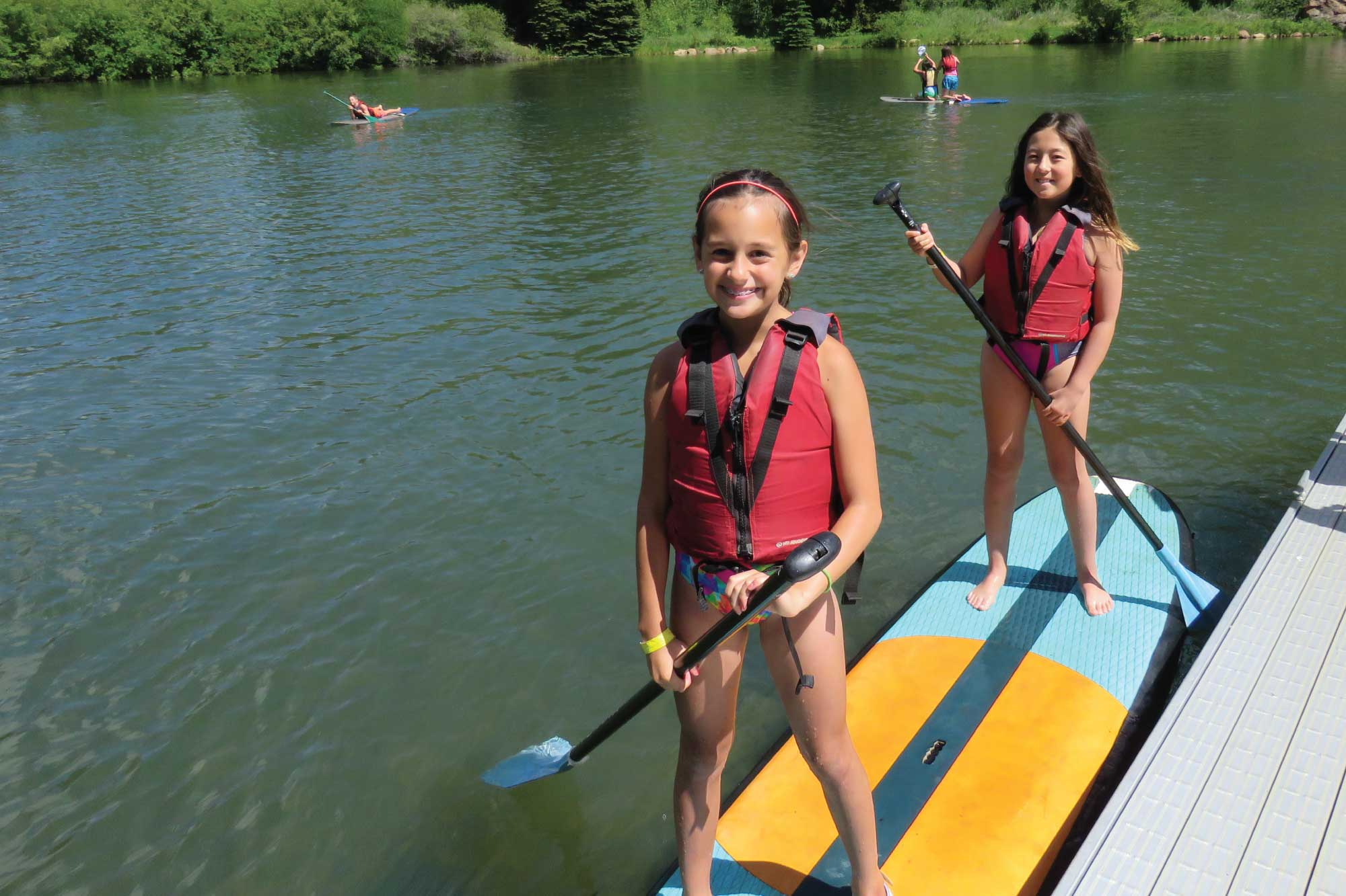 standup paddle board at camp santa maria