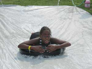 slip-n-slide at camp