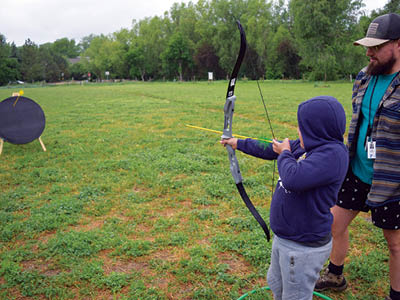 archery at camp elks