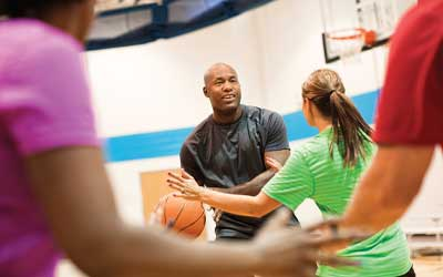 pick up basketball at the ymca