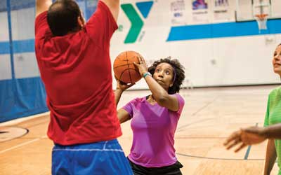 adult basketball at the y
