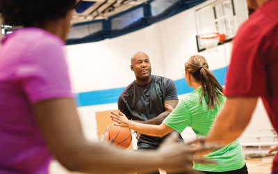 pick-up basketball