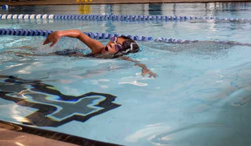triathlete swimming at the ymca